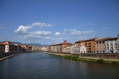 比萨,意大利全景  免版税图库摄影