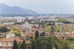 比萨 从斜塔的老镇 免版税库存照片