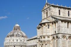 比萨洗礼池和大教堂中央寺院,托斯卡纳,意大利 库存图片