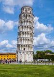 比萨-重要地标著名塔在托斯卡纳 免版税库存照片