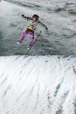 比赛上涨夜的滑雪 免版税图库摄影