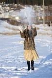 比赛冬天 库存图片