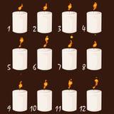 比赛和应用设计的动画蜡烛  库存图片
