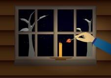 比赛和蜡烛 免版税图库摄影