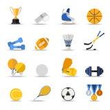 比赛图标多数普遍的集体育运动向量 平的样式设计 库存照片