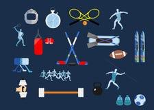 比赛图标多数普遍的集体育运动向量 免版税库存照片