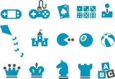 比赛图标集 免版税库存照片