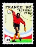 比赛场面,世界杯橄榄球法国1998年serie,大约1996年 免版税库存图片
