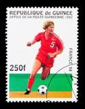 比赛场面,世界杯足球赛1998年-法国serie,大约1997年 免版税图库摄影