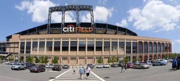 比赛天- Mets体育场-女王纽约 库存图片