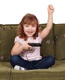 比赛女孩少许作用录影 免版税库存图片