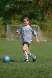 比赛女孩足球 库存照片