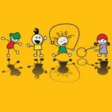 比赛孩子使用 免版税库存照片