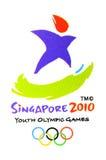 比赛徽标正式奥林匹克青年时期 库存照片