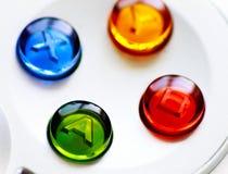 比赛控制器按钮 免版税库存照片