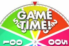 比赛时间手纺车乐趣赌博 皇族释放例证