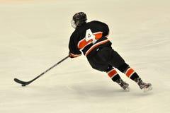 比赛曲棍球冰ncaa球员普林斯顿 免版税库存照片