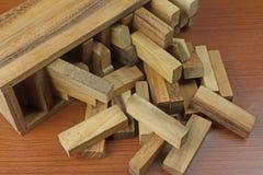 比赛木头 免版税库存照片