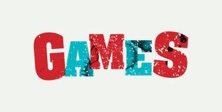 比赛概念被盖印的词艺术例证 图库摄影