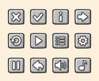 比赛的石按钮 免版税库存图片