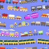 比赛礼物孩子火车无缝的样式背景传染媒介旅行铁路 库存照片