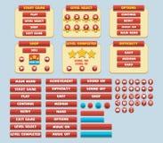 比赛简单的平的GUI组装 库存图片