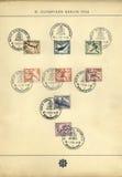 比赛老奥林匹克印花税 库存照片