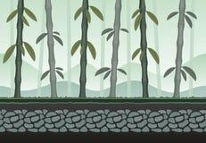 比赛背景的无缝的竹风景 免版税库存图片