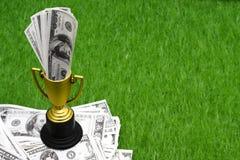 比赛货币赢取 免版税库存图片