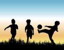比赛足球 向量例证