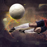 比赛足球 库存图片