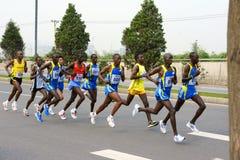 比赛马拉松 免版税库存照片
