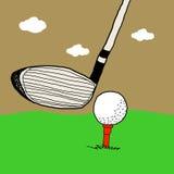 比赛高尔夫球例证 免版税库存照片