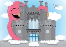逗人喜爱的城堡妖怪 免版税图库摄影