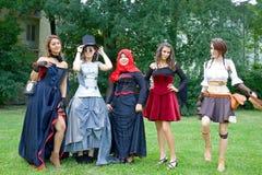 比赛cosplay女孩 库存照片