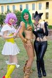 比赛cosplay女孩 免版税库存照片