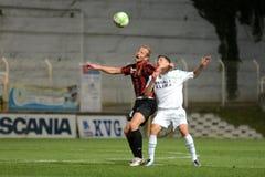 比赛honved kaposvar足球 免版税库存图片