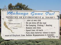 比赛mahango公园 免版税库存图片