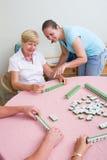 比赛mahjong 免版税库存图片