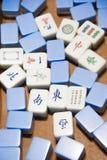 比赛mahjong 库存照片