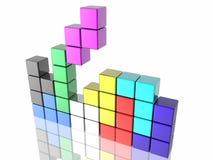 比赛tetris 免版税库存图片
