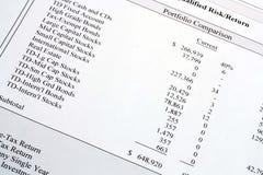 比较投资组合 免版税库存照片