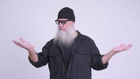比较某事的成熟有胡子的行家人 股票视频
