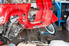 比雅久大黄蜂类LML T5 150摩托车从1990年 图库摄影