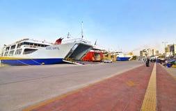 比雷埃夫斯希腊港的风景  库存照片