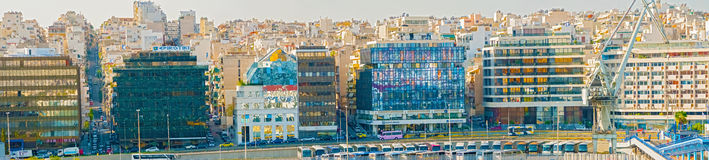 比雷埃夫斯,在雅典附近的口岸在希腊 免版税库存照片