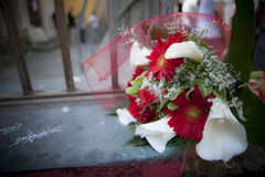 毕业典礼举行日的花束 图库摄影