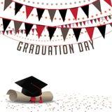 毕业典礼举行日背景EPS 10传染媒介 免版税图库摄影
