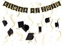 毕业典礼2016年邀请设计 图库摄影