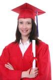毕业妇女 免版税库存照片